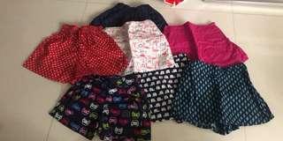 Skirts pants, prelove 1-2years