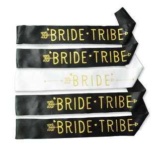 Bride Tribe Sash Bachelorette Combo Pack ( 1 Bride + 4 Bride Tribe Sash )