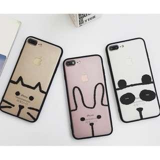 #手機殼IPhone6/7/8/plus/X : 創意韓風可愛動物