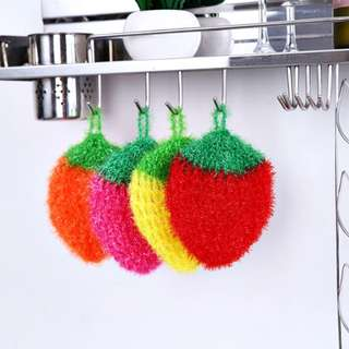 KOREA Strawberry Acrylic Sponge Scouring Pad