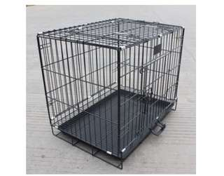 Cat Cage with wheels (black)