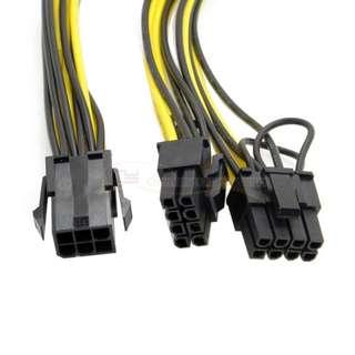 6PIN轉雙8P顯卡供電線 雙8針顯卡電源延長線 雙6+2PIN線