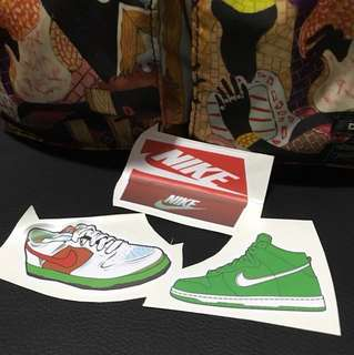Nike Shoe 3 pcs stickers ideal for laptop and etc.