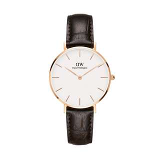 100% Original [SALES] Daniel Wellington Watch Classic Petite Collection York Rose Gold 28mm / 32mm White Face Free Delivery