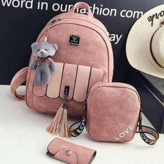 3in1 bag with teddy bear