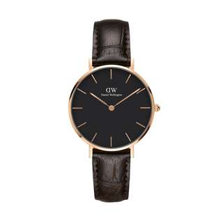 100% Original [SALES] Daniel Wellington Watch Classic Petite Collection York Rose Gold 28mm / 32mm Black Face Free Delivery