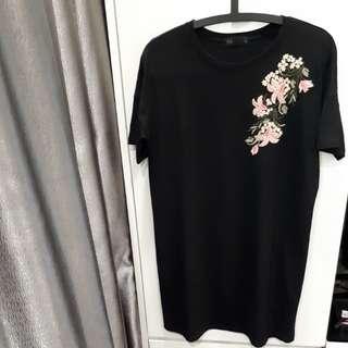 T-shirt Embriodery Dress