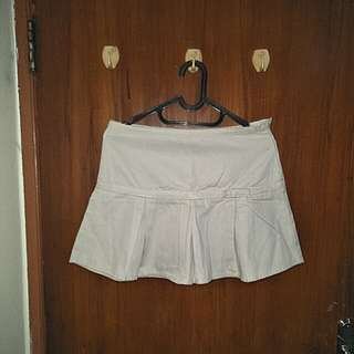 WHITE SKIRT rok putih