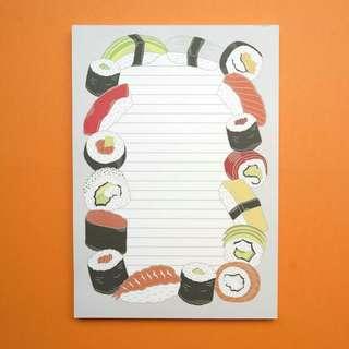 ✨INSTOCKS✨Yummy Sushi Notepad