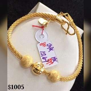 24K|999 Pure Gold Bracelet