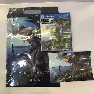 PS4 Monster Hunter World - R3 (Asia) with initial premium