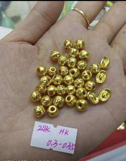 999|24K Pure Gold Charms