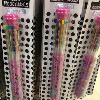 Primark unicorn 10 colour pen
