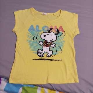 Fox snoopy tshirt size 8