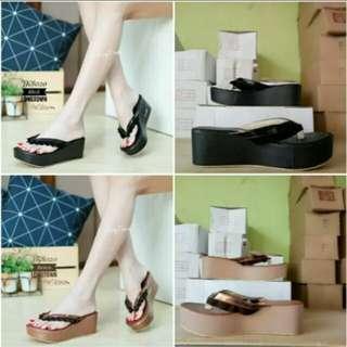 Sandal wedges MR100 tan