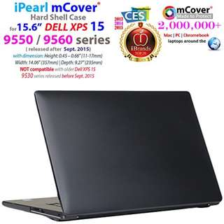 """iPearl mCover HARD Shell CASE for 15.6"""" Dell XPS 15 9550 / 9560 / Precision 5510 series (released after Sept. 2015) Laptop Computer - BLACK"""