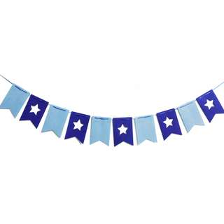 Blue Theme Star Flag Buntings