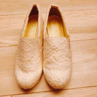 Jelly beans 白色 lace 鞋
