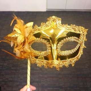 Gold Masquerade Party Mask