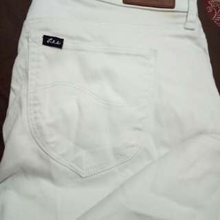 Celana Jeans Lee White Putih