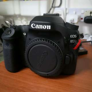 Canon 80D wth box )(not local set) + 50mm f1. 8 wth original len hood  + remote control