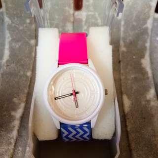C05 jam tangan pink putih