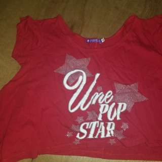 Popstar Hanging Shirt / Crop Top