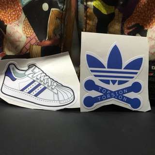 Adidas Tee Torsion 2 pcs stickers ideal for laptop etc