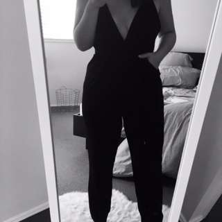 Black Low Cute Jumpsuit