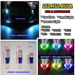 (4) LED T10 Bulb Car Plate Parking Light
