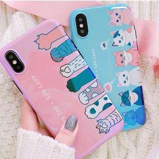 #手機殼IPhone6/7/8/plus/X : 創意可愛貓咪