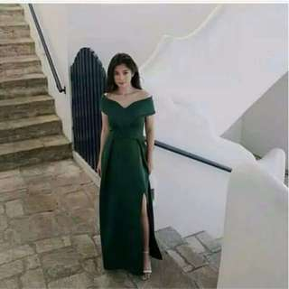 Custom Long Dress Sabrina Scuba