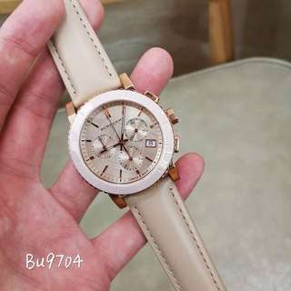 Authentic!Burberry  Bu 9704 Watch! 手錶