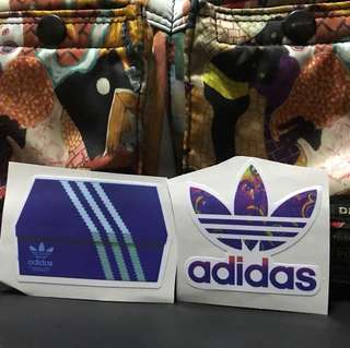 Adidas shoe box edition 2 pcs stickers ideal for laptop etc