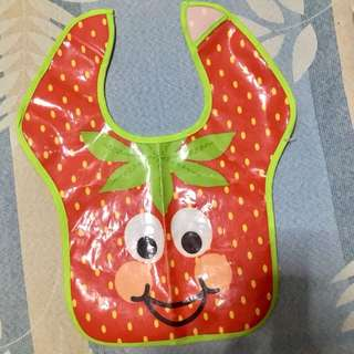 Strawberry Plastic Bib
