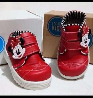 Lagaek sepatu anak minnie merah