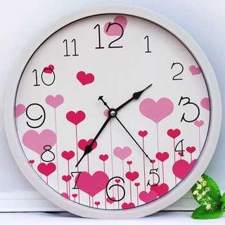 Heart clock for desktop 13*13cm