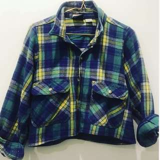 Vintage flanalette shirt. Cropped. One size only. One off item. Not available in shops