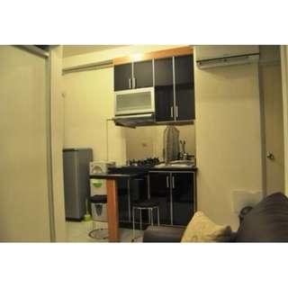 Unit full furnish 2BR Di lantai tinggi