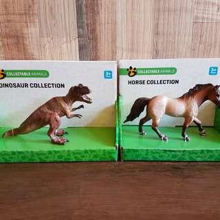 Brand New: Horse / Dinosaur Figurine Toys