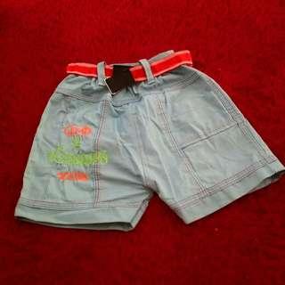 Celana pendek anak laki laki 1-2 tahun ukuran S