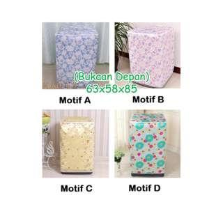 Cover Mesin Cuci Bahan Satin  Anti Air  12 motif HPR201
