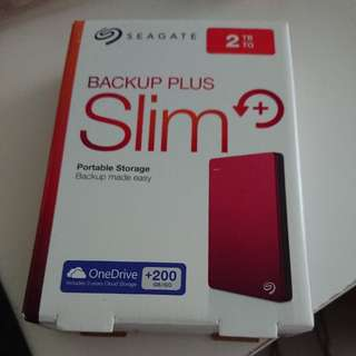 Seagate backup plus slim 2TB RED (NEW)