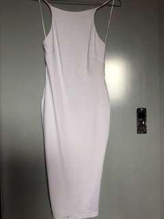 Nookie White Low Back Dress