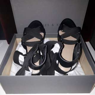 Charles & Keith Sandals- black