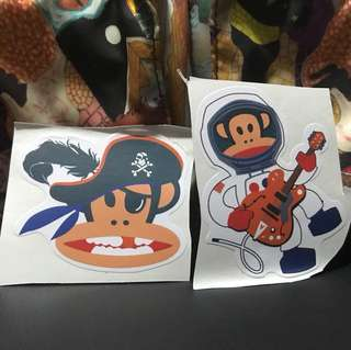 Paul frank musician pirate stickers 2 pcs ideal for laptop etc