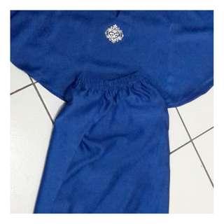 Baju Kurung Kelawar Kanak2-Royal Blue
