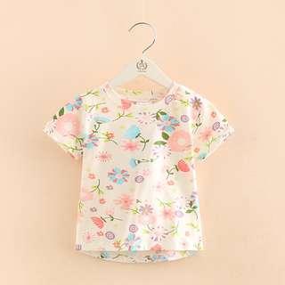 kids fashion girl floral tshirt