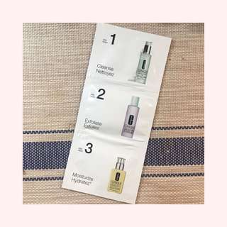 Clinique 3-Step Routine for Dry-Combo Skin Sample Packs