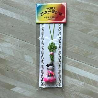 韓國公仔造型電話繩/裝飾品